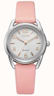 Citizen Damski zegarek ze skóry ekologicznej w kolorze różowym FE1210-07A