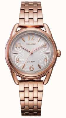 Citizen Damski zegarek z eko-napędem w kolorze różowego złota FE1213-50A