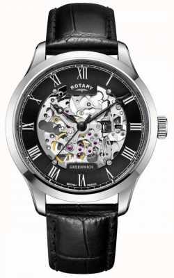Rotary Mężczyźni | szkielet | greenwich | automatyczny zegarek GS02940/30