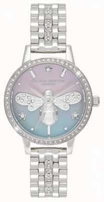 Olivia Burton Sparkle Bee dla kobiet | bransoleta ze stali nierdzewnej | zestaw kryształów OB16GB05