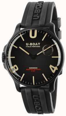 U-Boat Darkmoon 44mm czarny IPB | gumowy pasek 8464-BLACK