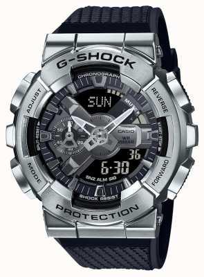 Casio G-shock | teksturowany pasek z żywicy | srebrna tarcza | czas na świecie GM-110-1AER