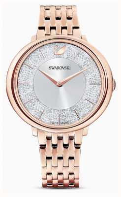 Swarovski Krystaliczny | bransoleta ze stali platerowanej różowym złotem | brokatowa tarcza 5544590
