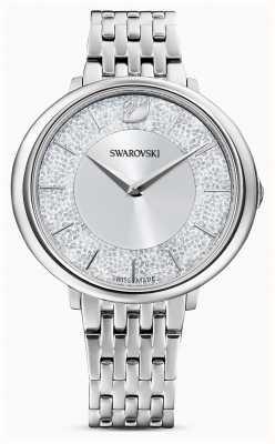 Swarovski Krystaliczny | bransoleta ze stali nierdzewnej | srebrna tarcza z brokatem 5544583