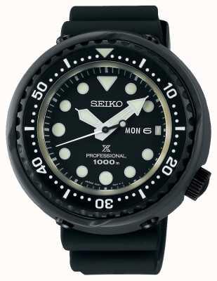 Seiko Nurkowie prospex z tuńczykiem   czarny silikonowy pasek   tytan S23631J1