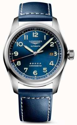 Longines Spirit blue tarcza 42 mm automatyczna niebieska skóra L38114930