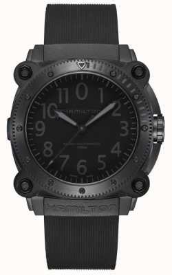 Hamilton Khaki granatowy poniżejzero | czarny silikonowy pasek | czarna tarcza H78505330