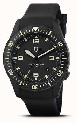 Elliot Brown Holton automatyczny | czarny gumowy pasek | czarna tarcza | 101-A10-R06