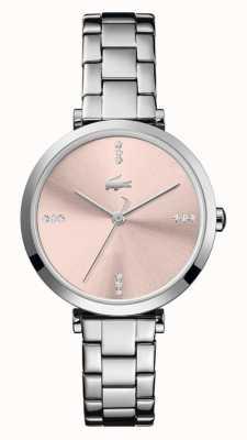 Lacoste | damskie | Genewa | bransoleta ze stali nierdzewnej | różowa tarcza | 2001145