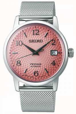 Seiko Limitowana edycja zapowiedzi | bransoleta z siatki stalowej | różowa tarcza SRPE47J1
