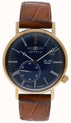 Zeppelin | lz120 rzymska pani | brązowy skórzany pasek | niebieska tarcza | 7137-3