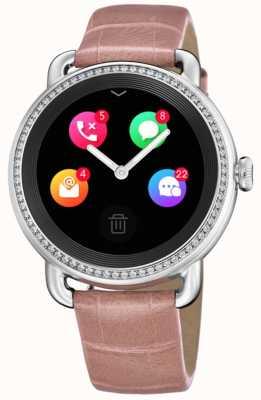 Festina Smartime | różowy skórzany pasek | kolorowy ekran | dodatkowy pasek w wężowy wzór F50000/2