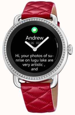Festina Smartime | czerwony skórzany pasek | kolorowy ekran | dodatkowy pasek z czarnej skóry F50000/3