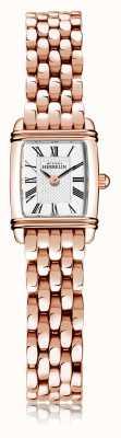 Michel Herbelin Art déco | damska bransoleta ze stali platerowanej różowym złotem | biała tarcza | cyfra rzymska | 17438/PR08B