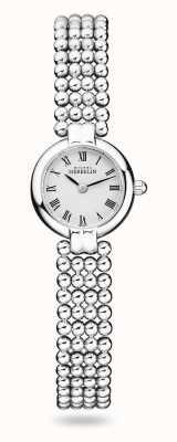 Michel Herbelin Perles   damska bransoletka ze stali nierdzewnej   biała tarcza 17433/B08
