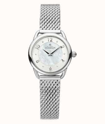Michel Herbelin Equinoxe | damska bransoleta z siatki stalowej | tarcza z masy perłowej 17497/29B