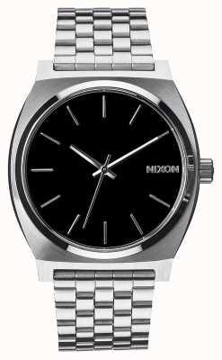 Nixon Licznik czasu   czarny   bransoleta ze stali nierdzewnej   czarna tarcza A045-000-00