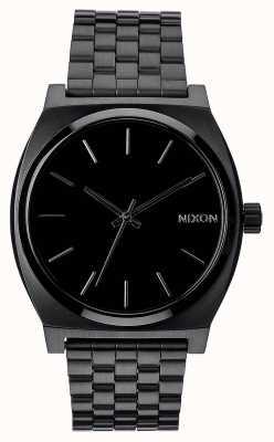 Nixon Licznik czasu | wszystko czarne | czarna stalowa bransoletka ip | czarna tarcza A045-001-00