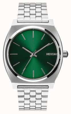 Nixon Licznik czasu   zielony promień słońca   bransoleta ze stali nierdzewnej   zielona tarcza A045-1696-00