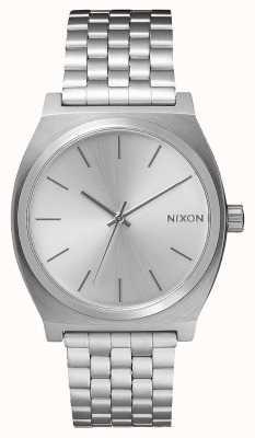 Nixon Licznik czasu   cały srebrny   bransoleta ze stali nierdzewnej   srebrna tarcza A045-1920-00