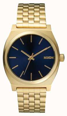 Nixon Licznik czasu | całe jasne złoto / kobalt | złota bransoletka ip | niebieska tarcza A045-1931-00