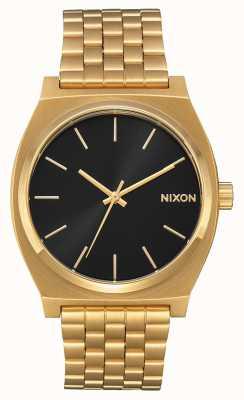 Nixon Licznik czasu   cały złoty / czarny promień słońca   złota bransoletka ip   czarna tarcza A045-2042-00