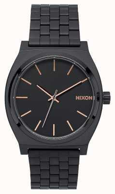 Nixon Licznik czasu   wszystko czarne / różowe złoto   czarna bransoletka ip   czarna tarcza A045-957-00