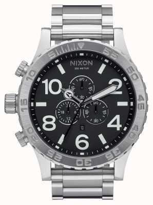 Nixon 51-30 chrono   czarny   bransoleta ze stali nierdzewnej   czarna tarcza A083-000-00