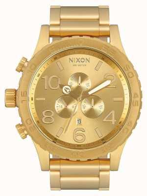 Nixon 51-30 chrono   całe złoto   złota bransoletka ip   złota tarcza A083-502-00