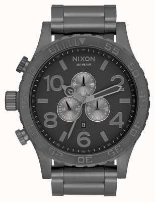 Nixon 51-30 chrono   cały brąz   stalowa bransoletka z brązu   tarcza z brązu A083-632-00