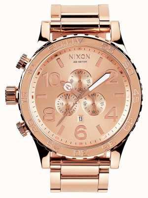 Nixon 51-30 chrono | całe różowe złoto | bransoletka ip z różowego złota | tarcza z różowego złota A083-897-00