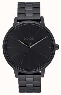 Nixon Kensington   wszystko czarne   czarna bransoletka ip   czarna tarcza A099-001-00