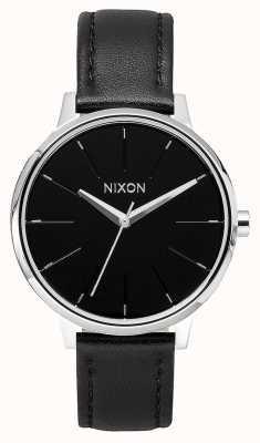 Nixon Skóra Kensington   czarny   czarny skórzany pasek   czarna tarcza A108-000-00