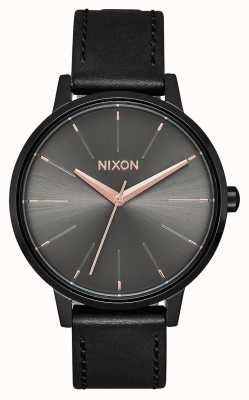 Nixon Skóra Kensington   czarny / brąz   czarny skórzany pasek A108-1420-00