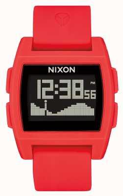 Nixon Przypływ bazowy   czerwony   cyfrowy   czerwony silikonowy pasek A1104-200-00