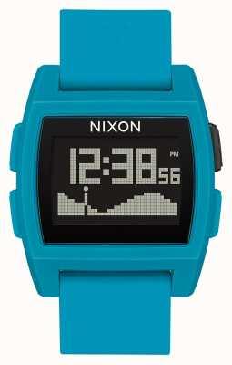 Nixon Przypływ bazowy   niebieska żywica   cyfrowy   niebieski silikonowy pasek A1104-2556-00