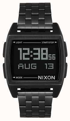 Nixon Podstawa | wszystko czarne | cyfrowy | czarna stalowa bransoletka ip | A1107-001-00