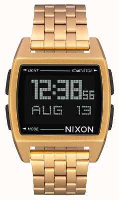 Nixon Podstawa | całe złoto | cyfrowy | bransoletka ze stali w kolorze złotym ip A1107-502-00