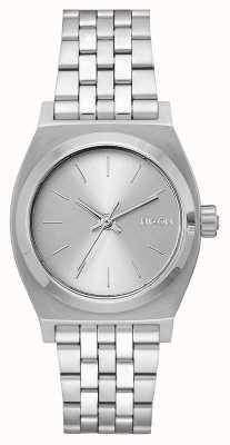 Nixon Kasjer średnioczasowy   cały srebrny   bransoleta ze stali nierdzewnej   srebrna tarcza A1130-1920-00