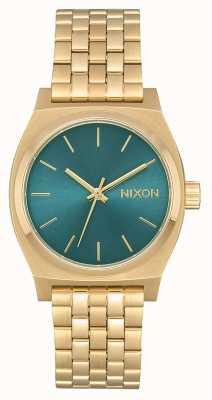 Nixon Kasjer średnioczasowy   jasny złoty / turkusowy   bransoletka ze stali w kolorze złotym ip A1130-2626-00