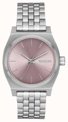 Nixon Kasjer średnioczasowy   srebrny / blada lawenda   bransoleta ze stali nierdzewnej   A1130-2878-00