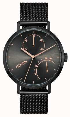 Nixon Sprzęgło   czarny / brąz   czarna stalowa siatka ip   czarna tarcza A1166-1420-00