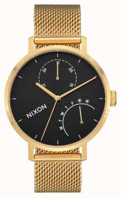 Nixon Sprzęgło   złoty / czarny   stalowa siatka ze złota ip   czarna tarcza A1166-513-00