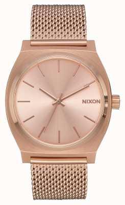 Nixon Licznik czasu Milanese   całe różowe złoto   siatka ip różowego złota   tarcza z różowego złota A1187-897-00