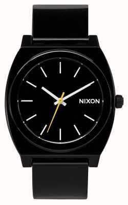Nixon Licznik czasu p   czarny   czarny pasek z tworzywa sztucznego   czarna tarcza A119-000-00