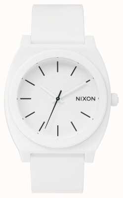 Nixon Licznik czasu p   biały matowy   biały silikonowy pasek   biała tarcza A119-1030-00