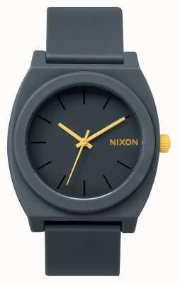 Nixon Licznik czasu p   matowy stalowy szary   szary silikonowy pasek   szara tarcza A119-1244-00