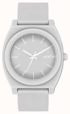 Nixon Licznik czasu p   matowy chłodny szary   szary silikonowy pasek   szara tarcza A119-3012-00