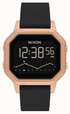 Nixon Syrena ss | różowe złoto / czarny | cyfrowy | czarny silikonowy pasek A1211-1098-00