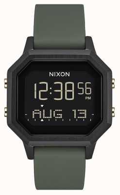 Nixon Syrena ss   czarny / zmęczenie   cyfrowy   czarny silikon   A1211-178-00